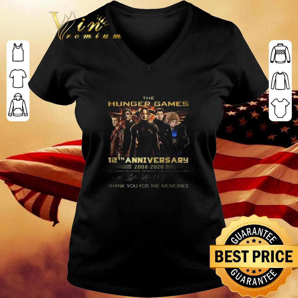 The Hungger Games 12th anniversary 2008-2020 Thank you for the memories shirt 3